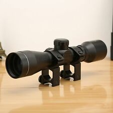 4 x 32 Rifle Gun Scope Telescopic Rangefinder Reticle 20mm Weaver Picatinny Rail