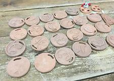 Louis Jean Mideke Lot 26 Pc Pottery Vintage Medallions Pendants J E O Q G etc.