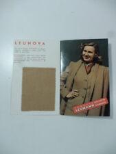 Inverno 1940/41. Leumann. (Pieghevole pubblicitario con campione di stoffa)