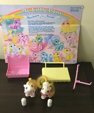 VTG My Little Pony Newborn Twins RATTLES & TATTLES Baby Bottles & Baby Necklaces
