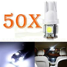 50Pcs Wedge 5050 5-LED T10 168 194 White License Plate Light Bulb Lamp for Ford
