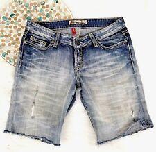 BKE Sabrina Buckle Womens Jean Shorts Size 27x31.5 Distressed Cut Off Cuffed o16