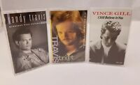 Country Music Cassettes Lot of 3 Randy Travis Travis Tritt Vince Gill FREE SHIP