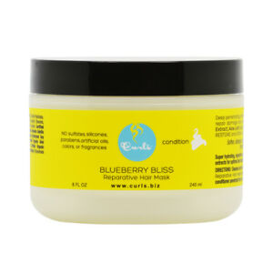 Curls Blueberry Bliss Reparative Hair Mask 8oz w/Free Nail File