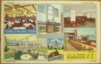 Washington, DC 1940s Linen Postcard: O'Donnell's Seafood Restaurant - DOC