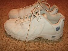 K-SWISS WHITE LEATHER SHOCK SPRING WALKING SHOES Womens Size 9