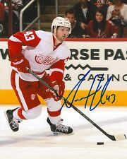 DARREN HELM signed DETROIT RED WINGS 8X10 PHOTO COA A