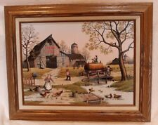 """Personal Preference CARSON STABLE C. Carson Framed Americana ~20.5"""" x 16.5""""~ EUC"""