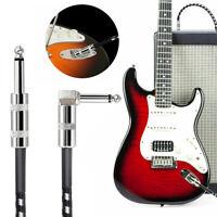 Audio Gitarrenkabel Klinkenkabel 6,3mm Geflochten 3m Gerade-gewinkelt Neu