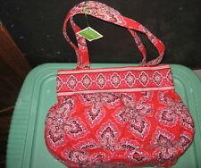 VERA BRADLEY RED MORGAN TOTE BAG Frankly Scarlett w/tag Handbag Purse Clutch