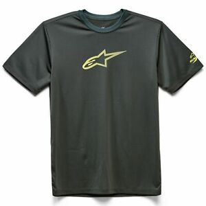 Crew Neck T-Shirt - Alpinestars Tech Ageless Performance Moister Wick - Spruce