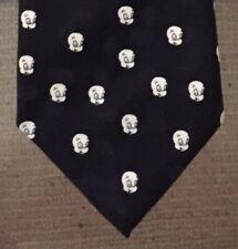 Casper the Ghost 1995 Vtg face polyester men's black neck tie Rare