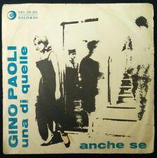 """UNA DI QUELLE  7"""" GINO PAOLI & ENNIO MORRICONE  ITALY 1962 ANCHE SE  no SIGLA TV"""