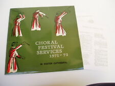 CHORAL FESTIVAL SERVICES 1971-2 - EXETER CATHEDRAL - LP