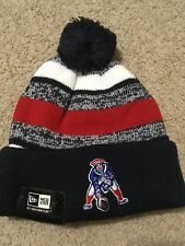 AUTHENTIC New England Patriots Beanie Knit Hat THROWBACK ON FIELD