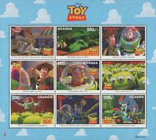 Disney Stamps - Uganda Toy Story Characters - Disney sheet of 9 Stamps MNH