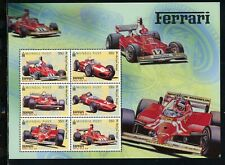 Mongolia Scott #2446 MNH SHEET of 6 Ferrari Racing Cars CV$16+