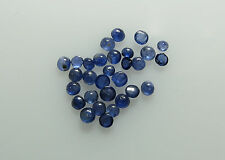 Natural Loose Blue Sapphire 2.4-2.6mm 10pc 0.80cts Round Cabochon Nontreated