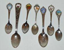 Modern Travel Spoons lot of 7 Opryland Niagra Falls Asbury Park Wv Va Ky & Ca