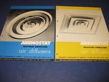 1950-51 Anemostat 00006000  Air Diffuser Catalog/Brochure 2 Lot