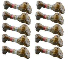 "Dog Bone Pack of 10 ""Delicious"" Roasted Pork Real Meat Dog Chew Treat Pet Food"