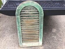 Antique Arched Shutter Old Green Paint.