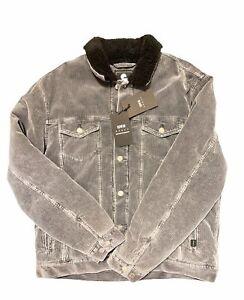 EDWIN Trucker Jacket Lined Ebony Stone washed