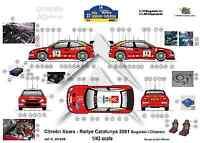 [FFSMC Productions] Decals 1/43 Citroën Xsara Rallye De Catalogne (Espagne) 2001