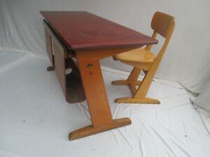 alter, original Casala Kinderschreibtisch Schulbank Schultisch mit Stuhl
