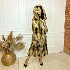 Superior real full skin germany SABLE chic natural fur coat hood super fitch M