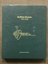 Intercept Shield Quality Coin Album For US Buffalo Nickels 1913 - 1938 Slipcase