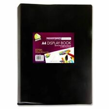 Premier A4 100 Pocket (200 View) Black Flexi Cover Display Folder Folio Book X1