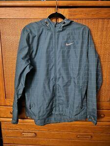 Nike Flicker Flash Hurricane Reflective Running Jacket Mens medium 596250-320