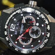 Invicta Men's Rare S1 Racing Chronograph Black Polyurethane Watch 1453