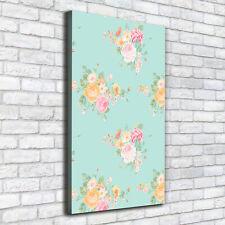 Leinwand-Bild Kunstdruck Hochformat 50x100 Bilder Vintage Blumen