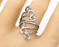 Handmade Sterling Silver Flat Fork Design Finger Wrap Bypass Ring