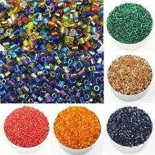 1000PCS 2mm Glass tube Glass Seed Spacer Beads DIY Jewelry Accessories Wholesale