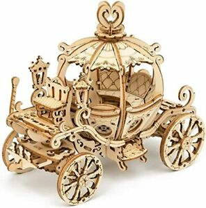 Wood PUMPKIN CART Model Kit ROKR 3D Puzzle Cinderella Carriage Toy DIY