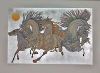 "GUILLAUME AZOULAY ""LEVER DE SOLEIL""LIMITED EDITION SILVER LEAF SERIGRAPH HS COA"