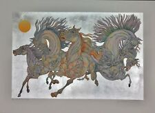 """GUILLAUME AZOULAY """"LEVER DE SOLEIL"""" SILVER LEAF SERIGRAPH HS & NUMBERED COA"""