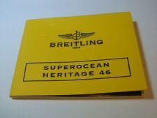 BREITLING DIVERS WATCH INSTRUCTION MANUAL BOOK BOOKLET - SUPEROCEAN HERITAGE 46