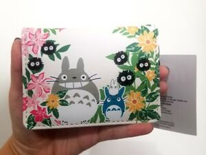 NEW Studio Ghibli My Neighbor Totoro Floral Wallet Cardholder Fuzzy Soot Sprites