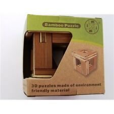 ECO PUZZLE 4 BAMBOO BRAIN TEASER MENTAL MIND BENDING NOVELTY TRICK MAGIC TOY