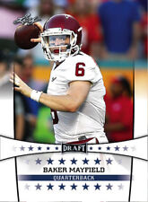 """NEW"" BAKER MAYFIELD 2018 LEAF DRAFT ROOKIE CARD! OKLAHOMA SOONERS! NFL #1 PICK!"