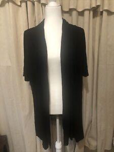 Lane Bryant black kimono short sleeve plus size 18/20