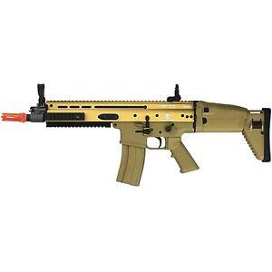 370 FPS FN SCAR-L MK16 LICENSED TAN METAL ELECTRIC AEG AIRSOFT RIFLE GUN 6mm BB