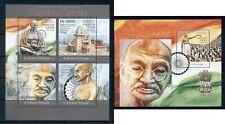 Gandhi India Independence Politics Nobel Sao Tome and Principe MNH stamp set