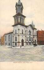 Little Falls New York Baptist Church Exterior Antique Postcard K19930