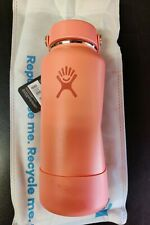 New Hydro Flask 32oz Wide Mouth Flex Cap Coral Hawaii Limited Edition Rare Dent