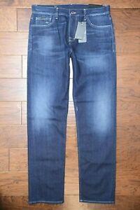 Armani Exchange A|X Men's Straight Fit Med Blue Stretch Cotton Denim Jeans 31R